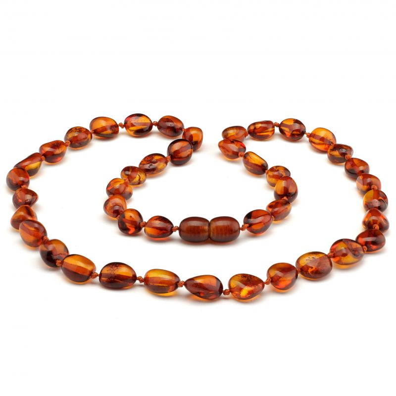 "18"" Cognac Polished Baltic Amber Necklace"