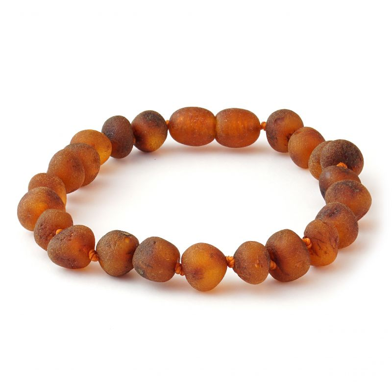 Adult Cognac Raw Baltic Amber Bracelet