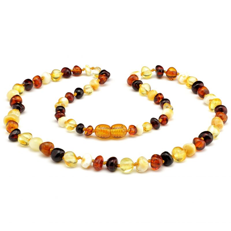"12"" Multi Polished Baltic Amber Necklace"