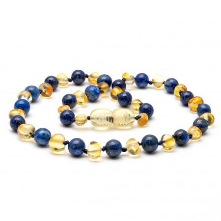 """12"""" Lemon Polished with Lapis Lazuli Gemstone"""