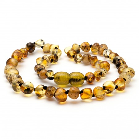 """12"""" Light Green Polished Baltic Amber Necklace"""