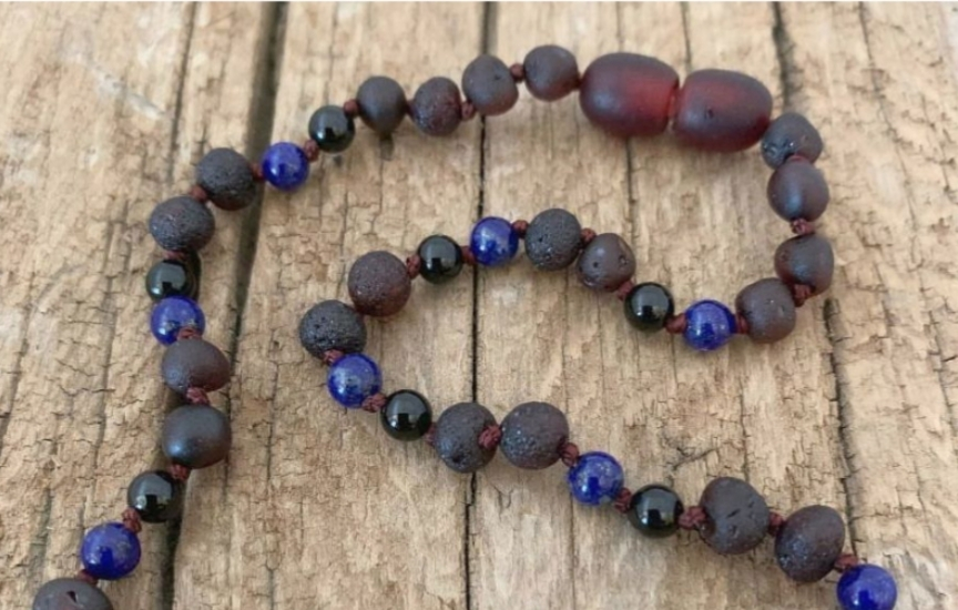 "12"" Cherry Raw with Onyx and Lapis Lazuli"