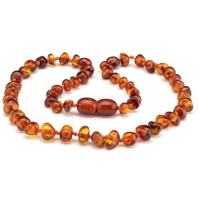 "10"" Cognac Polished Baltic Amber Necklace"