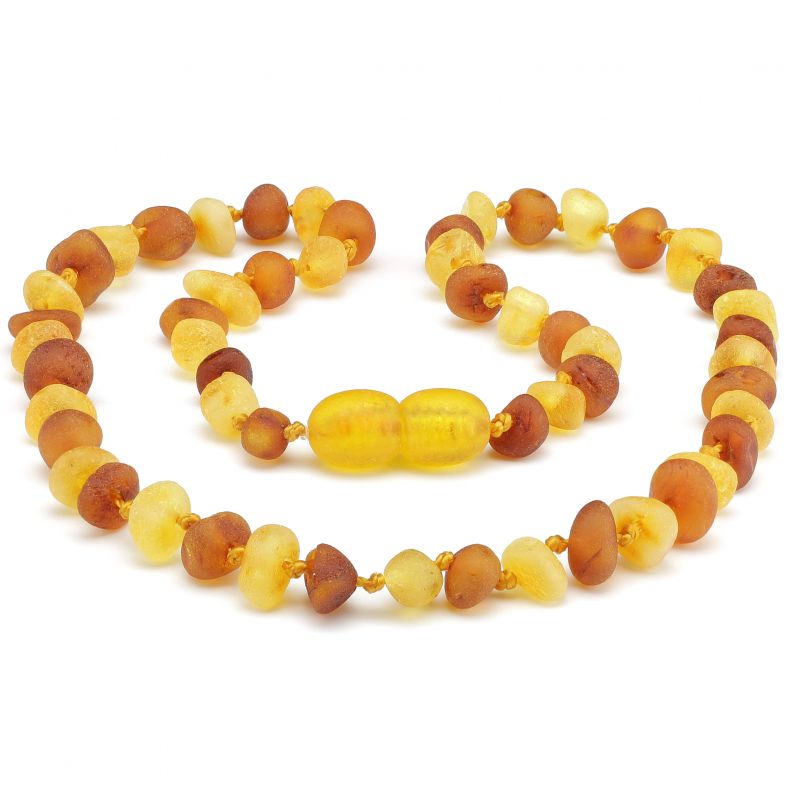 "12"" Cognac/Milk Raw Baltic Amber Necklace"