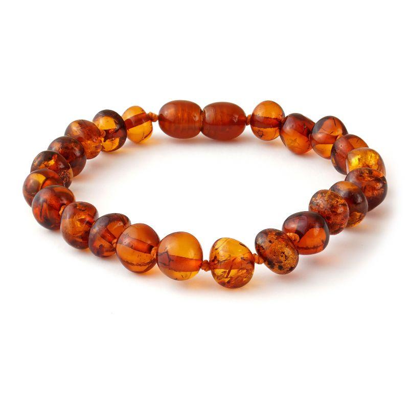 Adult Baltic Amber Cognac Polished Bracelet