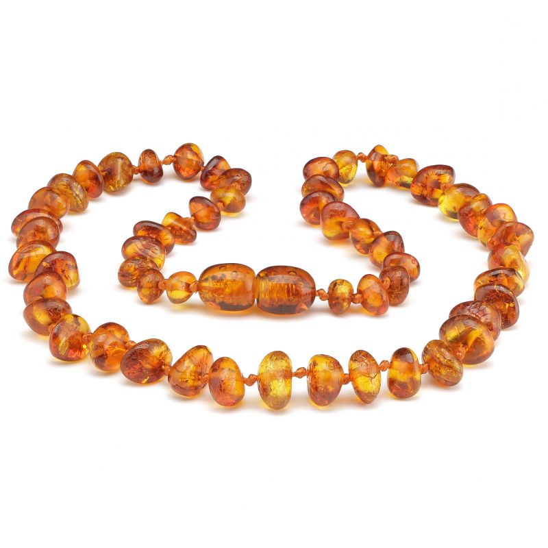 "12"" Cognac Polished Baltic Amber Necklace"