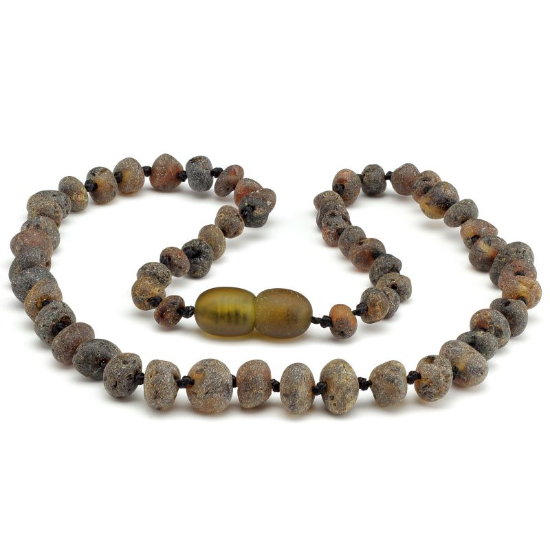 "12"" Green Raw Baltic Amber Necklace"