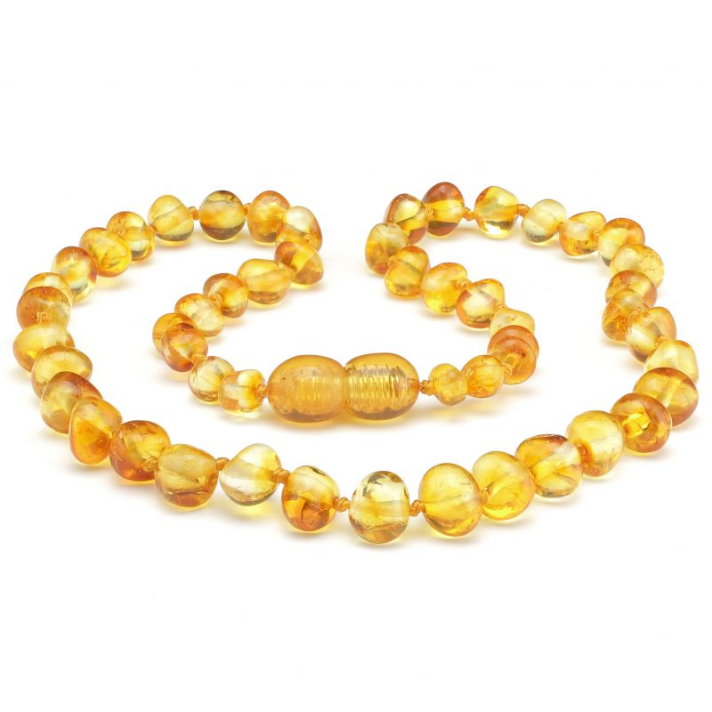 "19"" Honey Polished Baltic Amber Necklace"