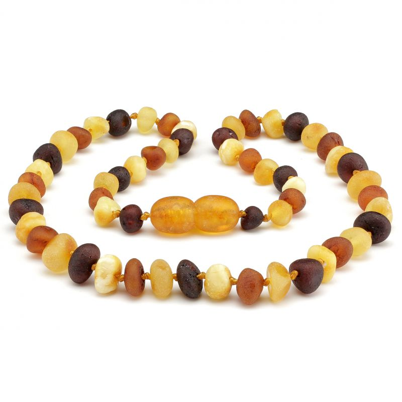 "10"" Multi Raw Baltic Amber Necklace"