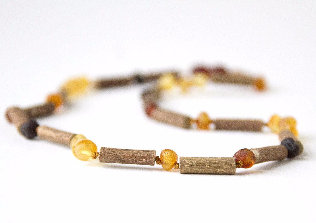 "12"" Hazelwood with Multi Polished Baltic Amber"