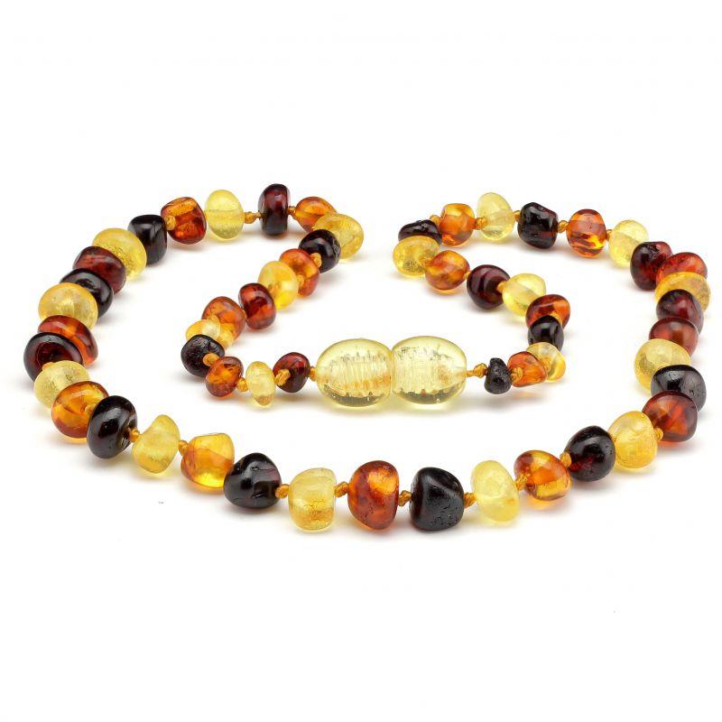 Multi Polished Baltic Amber Bracelet