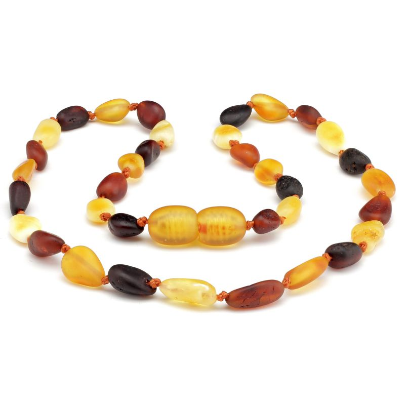 """20"""" Multi Raw Baltic Amber Necklace"""