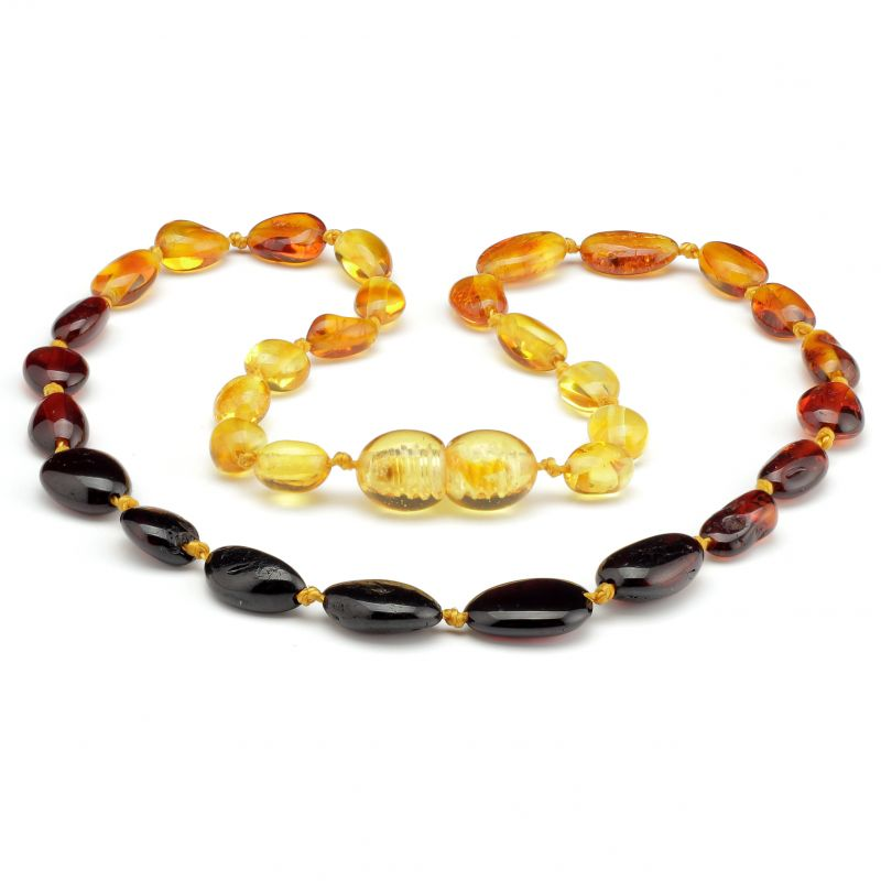 "12"" Rainbow Polished Baltic Amber Necklace"