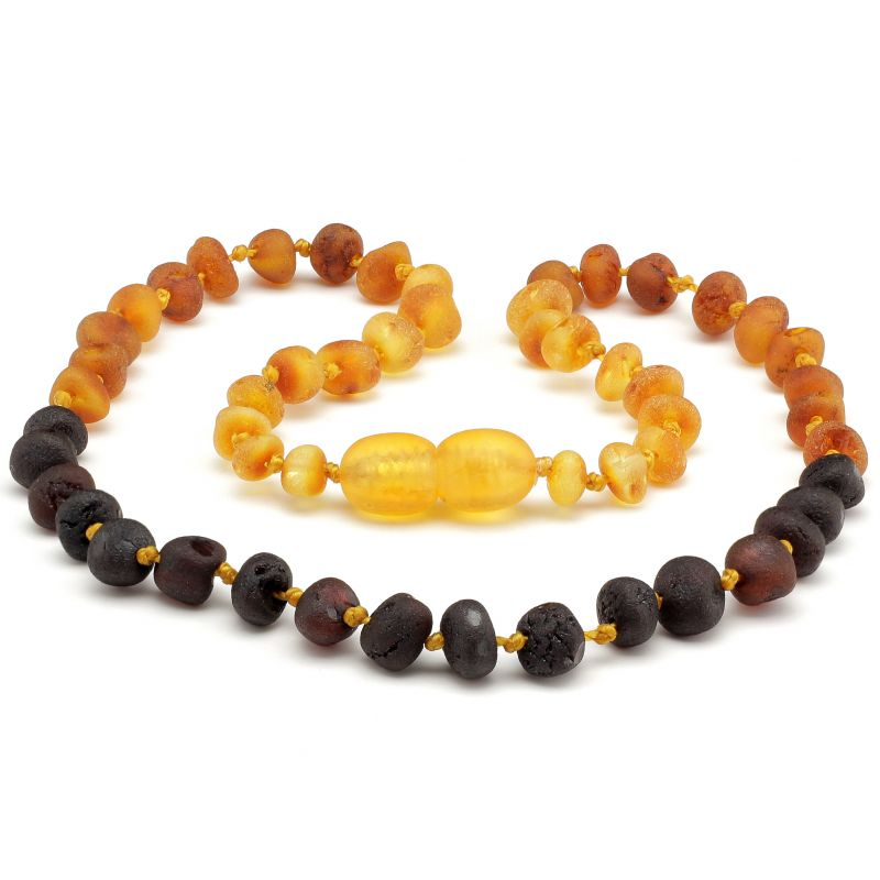 "12"" Rainbow Raw Baltic Amber Necklace"